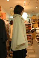 ファー襟コートサンプル