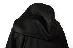 カシミヤフード付きコート